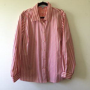 Foxcroft striped button down collared shirt